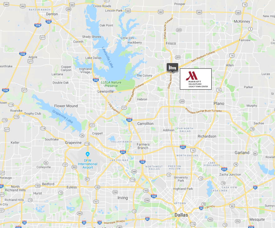 Marriott Dallas-Plano Legacy Town Center map